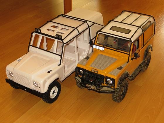 Mein neuer Defender, ein D 110 Crew Cab, noch im Rohbau.