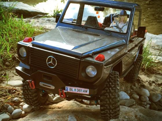 Erster Fahrt mit dem Mercedes G