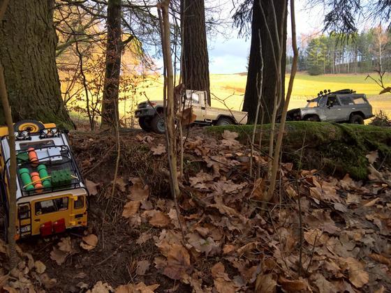 Sonntagsausfahrt mit Land Cruiser´n und Land Rover