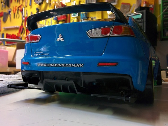 Mitsubishi Lancer Evo X auf 3Racing Sakura D3 CS Sport
