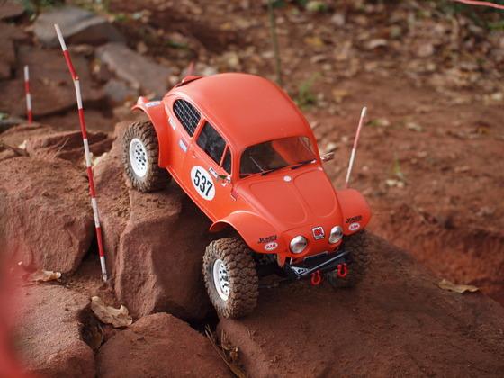 VW Käfer aus MST Chassis beim Scale Trial in Hütschenhausen