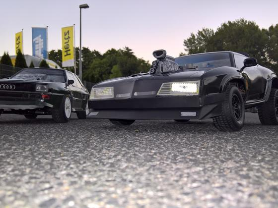 Interceptor auf Traxxas Slash - Audi Sportquattro auf Kyosho DRX   1:8