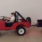Jeep CJ 5 mit Anhänger aus dem 3D-Drucker