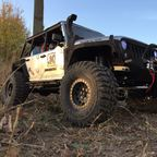Jeep bei Sonnenuntergang