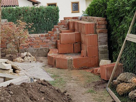 Gartenstrecke ...Unterbau ist fertig...jetzt gehts dann mit Natursteinen weiter