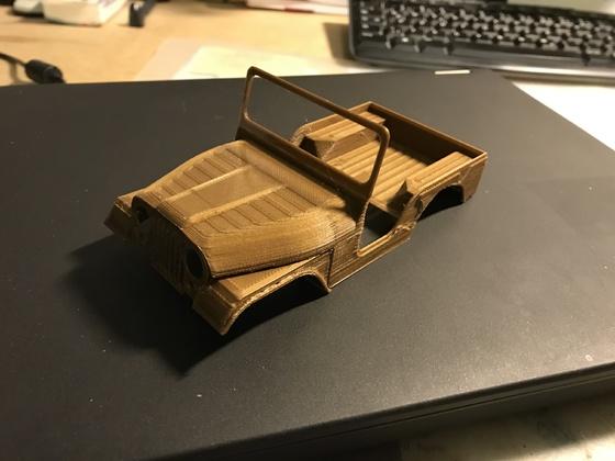 CJ 5 - 3D Druck - Testdruck 1:40 1/3
