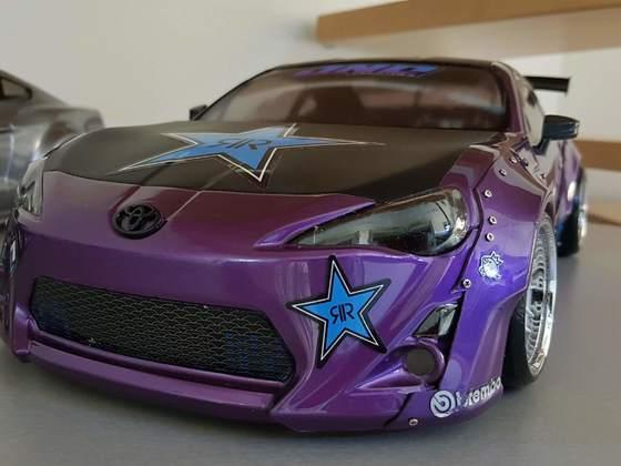 Toyota GT86 Rocket Bunny Rockstar Energy Design by Scale-Rocker-Customs