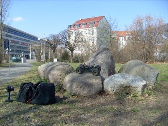 Kleine steinerne Ensembles in Leipzig...