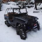Sawback im Schnee
