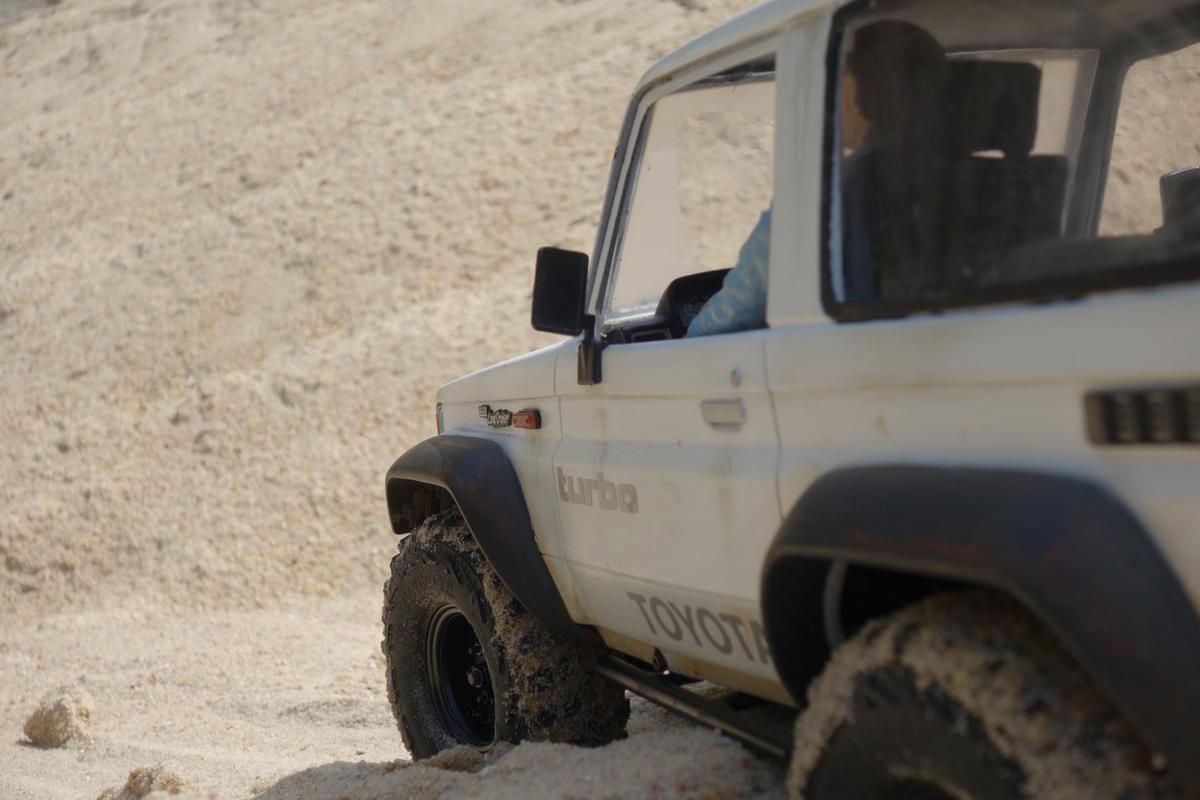 Sandkastenspiele mit dem Toyota LJ70 - 3
