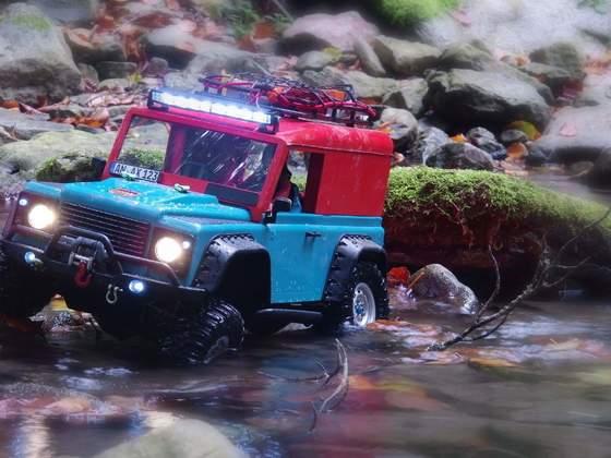 Der Defingo erobert das Schmerach Flussbett