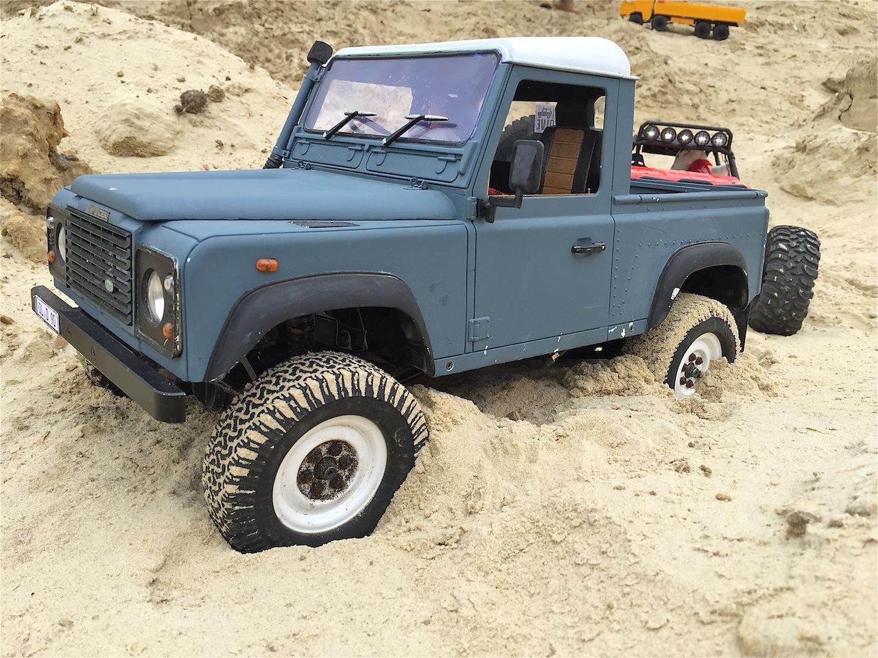 Impressionen Aus Der Wste Rc4wd Gelnde Ii Land Rover Defender D 90 Pick Up