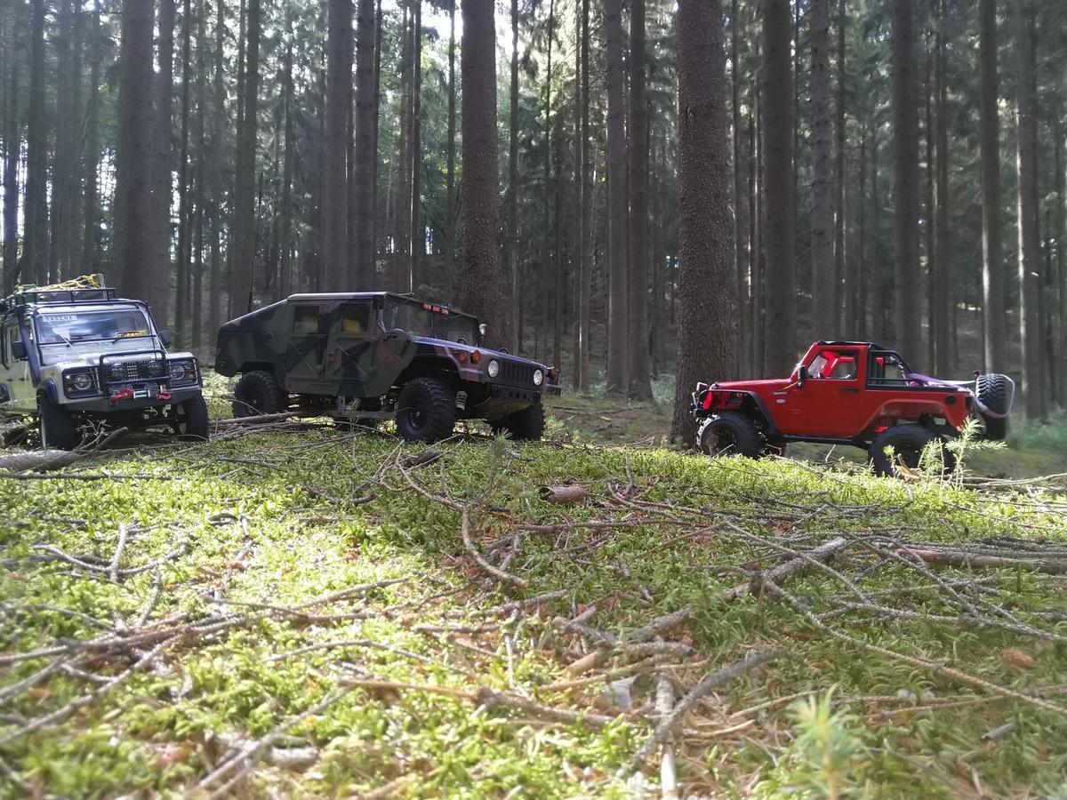 Ausfahrt mit MEX 110 und MEX JK sowie Big Hummer H1
