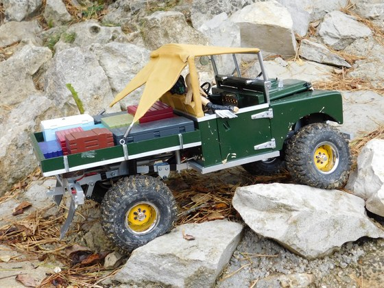 Timm Coopers Land Rover Series One 107 Ute in 1:8,3