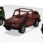 Projekt G Klasse  SWB alle Modelle - 3D Druck - 2