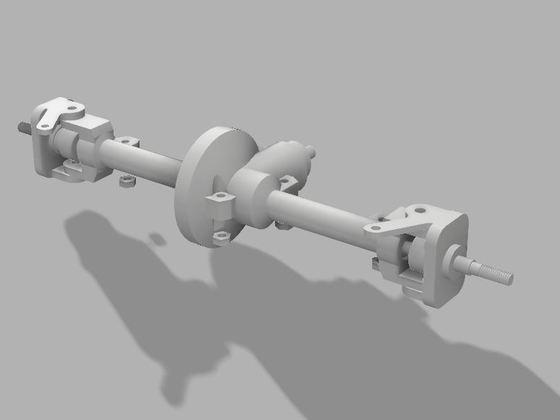Achse für 3D Druck mit SCX10 Innenleben Bild 11