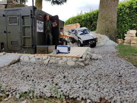 Kassenhäuschen hat seinen Platz im Parcour gefunden