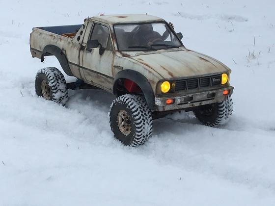 Schneefahrt Hilux