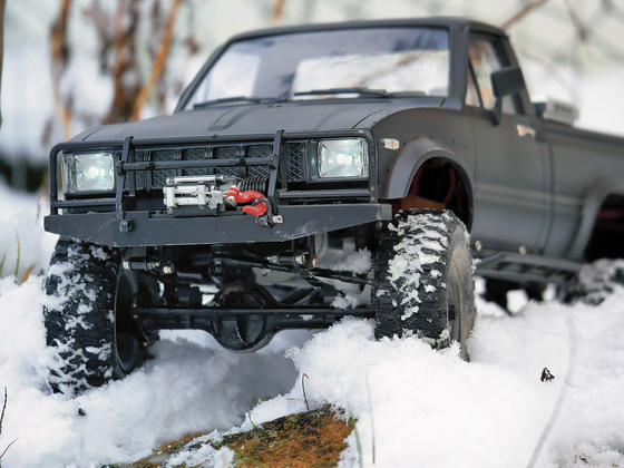 Hilux im Schnee
