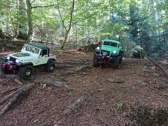 Mein Wrangler und der Dodge meiner Frau auf Tour