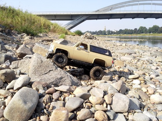 Chevy Blazer K5 am River Elbe