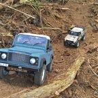 Moorfahrt in Groß Ippener   mit RC4WD Gelände II Land Rover Defender D 90 Pick Up