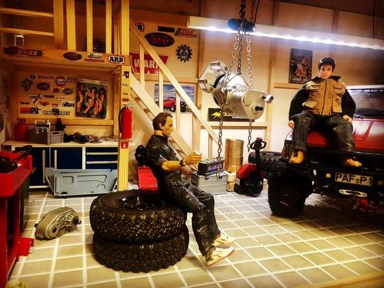 Feierabendstimmung in der Garage