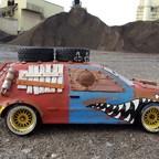 Apocalyptic Volkswagen Golf 4 Drift Car // Tamiya TT-01D