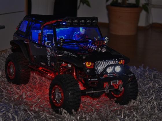 Beleuchtungsausbau + neue Kleinteile, Federn Reifen und Fahrer