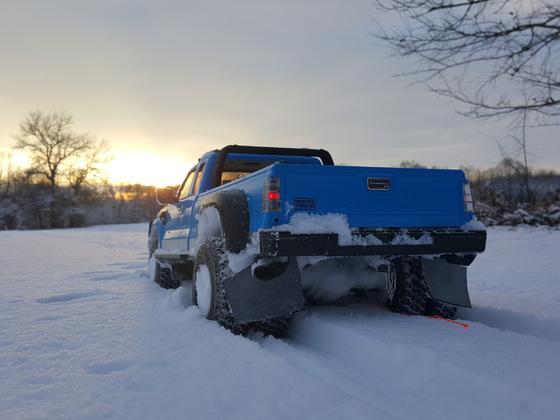 Erste Schneefahrt