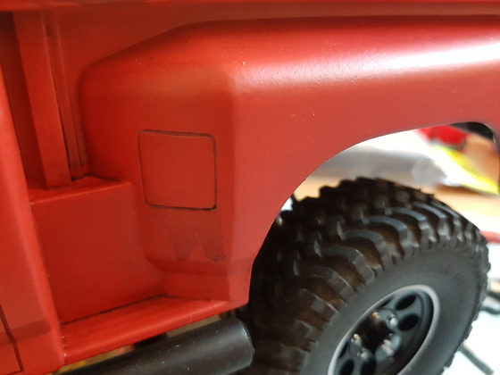 Buster's Ford F-150 Stepside auf Axial Chassi mit MST CMX Achsen (verbreiterte Tamiya Blackfoot Karo)
