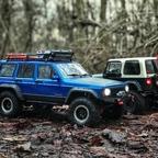Ausfahrt mit dem neuen Jeep XJ durch den Augburger Jungel