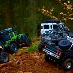 Buster's Traxxas TRX-4 mit New Bright Jeep Wrangler JK 4door Karo....Fotos by Bambelbi!