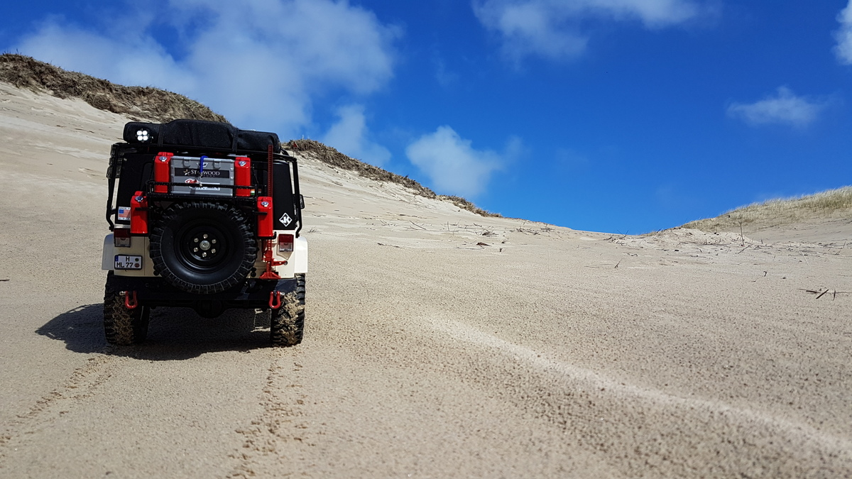 Trophy Jeep in the Dunes