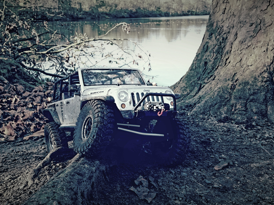 Jeep am See