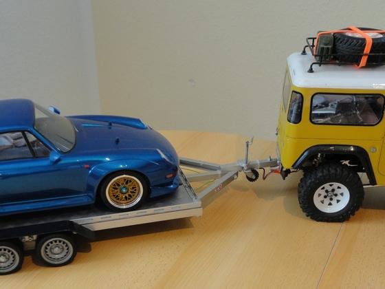 RC Car Trailer 1:10 im einfachen Eigenbau
