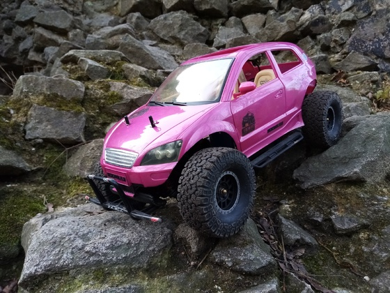 Pinky auf Testfahrt