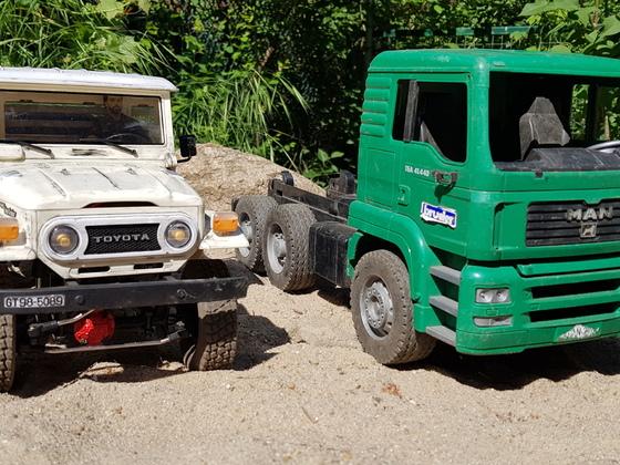 WPL C44 KM vs Bruder LKW Größenvergleich