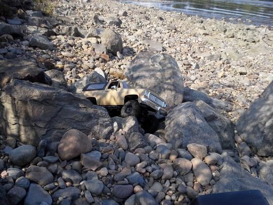 Chevy Blazer K5 am River Elbe