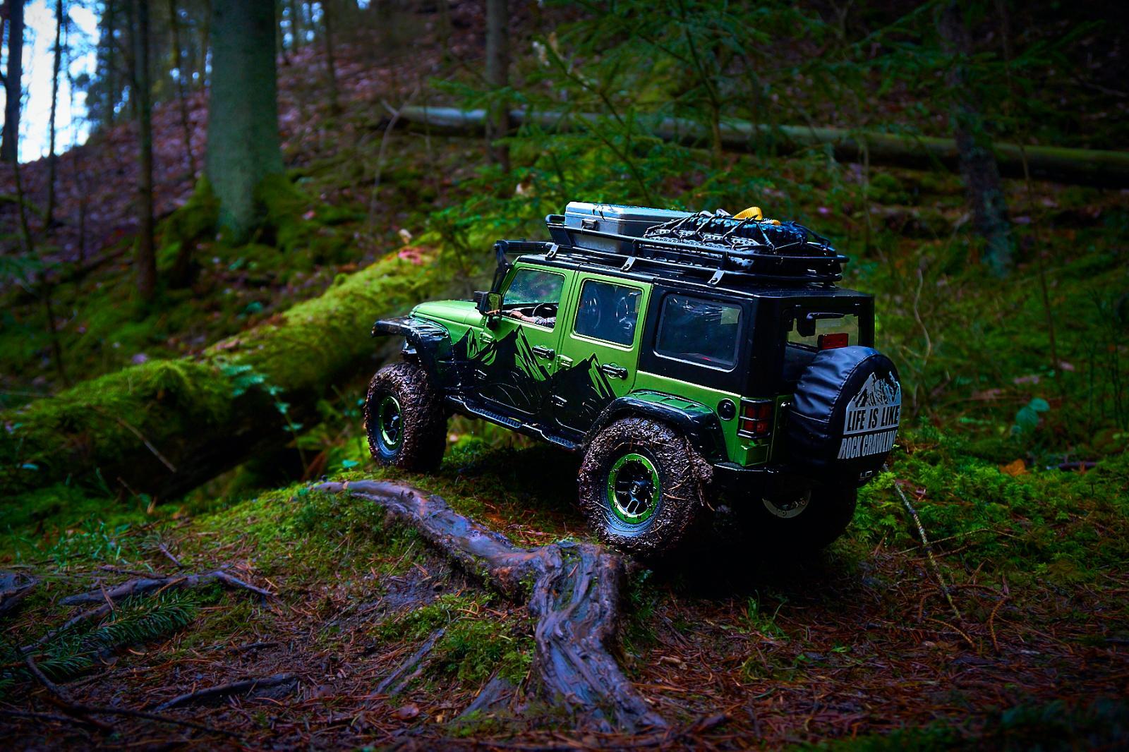 Jeep Wrangler Jk >> Buster's Traxxas TRX-4 mit New Bright Jeep Wrangler JK 4door Karo....Fotos by Bambelbi ...