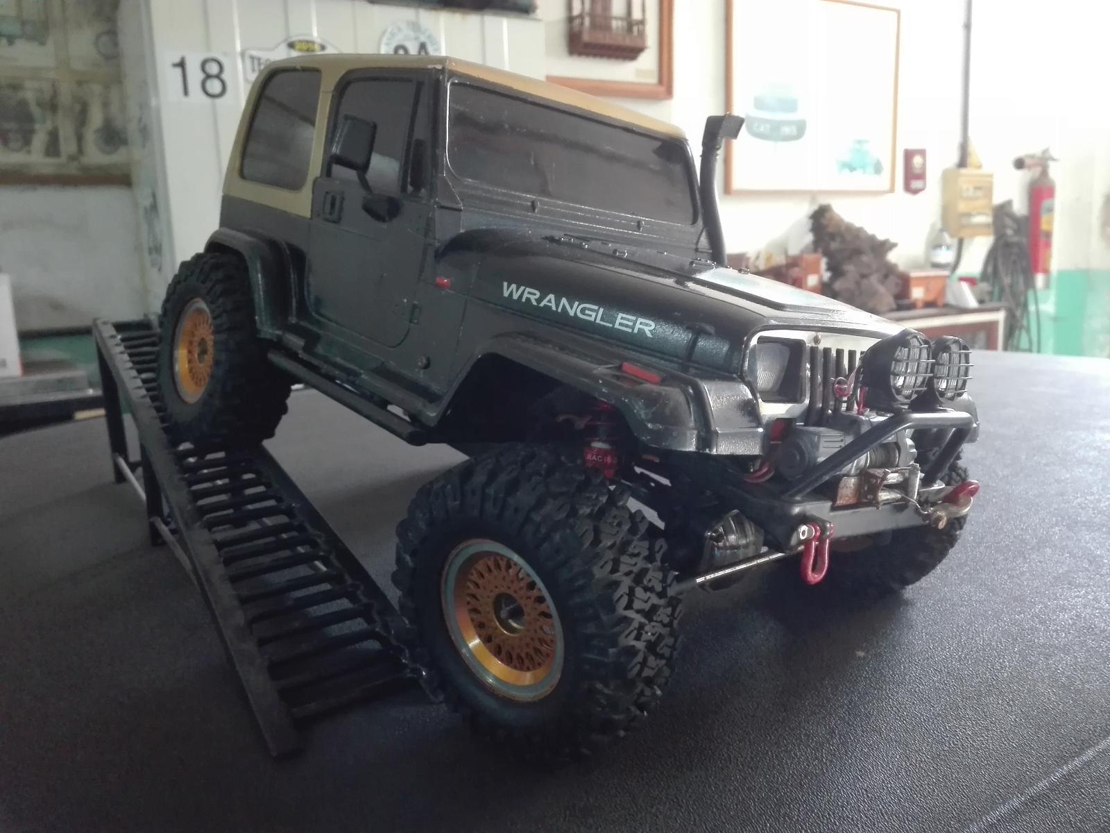 Jeep YJ Rc Modelex, Wiederaufbau - 4x4 Scaler <1,9